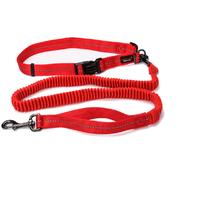 Dog's Life - Reflective Supersoft Webbing Bungee Running Leash - Red (Large)