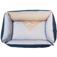 Dog's Life - Vintage Lounger Waterproof Summer Bed - Blue (Large)