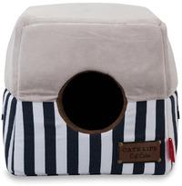 Cat's Life - Cat Cube Stripe - Navy (Medium) - Cover