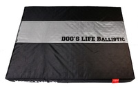 Dog's Life - Waterproof Ballistic Nylon Memory Foam Cushion  - Black (Medium) - Cover