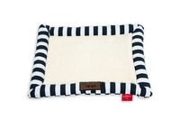 Cat's Life - Soft Spot Stripe Cat Bed - Navy (Medium) - Cover