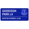 "Everton - Club Crest & Text ""GOODISON PARK L4"".Colour Street Sign"