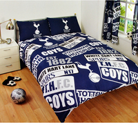 Tottenham Hotspur - Club Crest & Year Of Establishment Patch Duvet Set (Double) - Cover