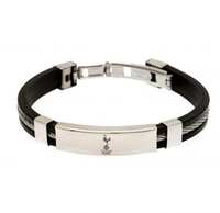Tottenham Hotspur - Club Crest Silver Inlay Silicone Bracelet - Cover