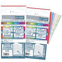 Treeline - Transparent Index Press Tabs - Multi Coloured (5 Strips per Pack)