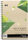 Treeline - A4 Spiral Note Books Side Bound Wiro 100 pg