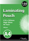 Treeline - A4 150 Micron Laminating Pouches 216 x 303mm (Pack of 100)