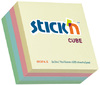 Stick'n - 76 x 76 Adhesive Cube Pastel (Box of 12)