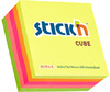 Stick'n - 76x76 Adhesive Cube Neon (Box of 12)