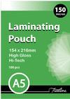 Treeline - A5 150 Micron Laminating Pouches 154 x 216mm (Box of 100)