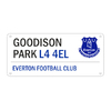Everton - Club Crest & Goodison Road L4 4EL Street Sign