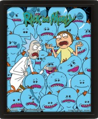 Rick and Morty - Mr Meeseeks (Framed 3D Print) - Cover