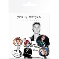 Justin Bieber - Image Button Badges (6PK) - Cover