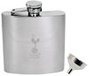 Tottenham Hotspur - Club Crest Chrome Hipflask & Funnel Cover