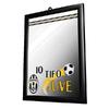 "Juventus - Club Crest & Text ""Juve My Team"" Small Mirror (Black)"