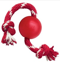 KONG - Red Ball with Red and White Rope (Small) - Cover