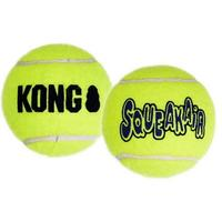 KONG - AIRDOG Yellow SQUEAKAIR Tennis Ball (Large)