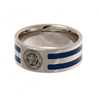 Leicester City - Club Crest Colour Stripe Ring (Medium)