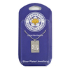 Leicester City - Club Crest Silver Plated Dog Tag and Chain