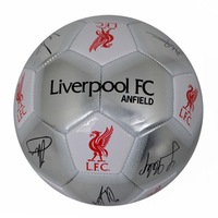 Liverpool - Silver Signature Football (Size 5) - Cover
