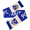 """Portsmouth - Club Crest &Text """"PORTSMOUTH FC"""" Named Scarf"""