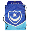 "Portsmouth - Club Crest & Text ""PORTSMOUTH FC"" Swoop Gym Bag"