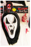 Bleeding Ghost Face Mask With Heart Blood Pump