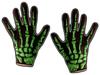 Scream Machine - Halloween Skeleton Gloves - Green
