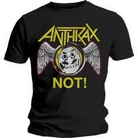 Anthrax Not Wings Men's Black T-Shirt (Medium) - Cover