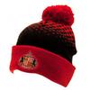 Sunderland AFC - Club Crest Cuff Bobble Knitted Hat