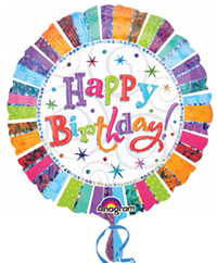 Anagram - 18 inch Circle Foil Balloon - Radiant Birthday - Cover