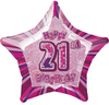 Unique Party - 20 inch Star Foil Balloon - 21st Birthday - Pink Cover