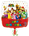 Anagram - 18 inch Square Foil Balloon - Mario Bros Happy Birthday