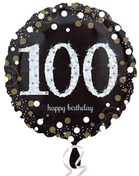 Anagram - 18 inch Circle Foil Balloon - Sparkling Birthday 100 - Cover