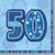 Unique Party - Blue Glitz Lunch Napkins - 50th Birthday Cover