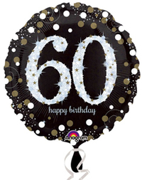 Anagram - 18 inch Circle Foil Balloon - Sparkling Birthday 60 - Cover