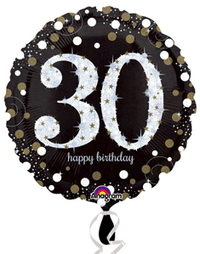 Anagram - 18 inch Circle Foil Balloon - Sparkling Birthday 30 - Cover