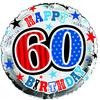 Simon Elvin - 18 inch Foil Balloon - 60th Birthday Cover