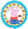 Anagram - 18 inch Circle Foil Balloon - Peppa Pig Happy Birthday