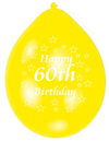 Amscan - Minipax Balloons - Happy 60th Birthday (Pack of 10) Cover