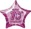 Unique Party - 20 inch Star Foil Balloon - 70th Birthday - Pink Cover