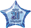 Unique Party - 20 inch Star Foil Balloon - 21st Birthday - Blue Cover