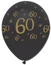 Creative Party - Black and Gold 12 inch Latex Balloons - 60 All Round Print (Pack of 6) Cover