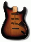 Allparts Electric Guitar Alder Replacement Body for Fender Stratocaster Style Guitars with SSS and Tremolo Routing (3-Tone Sunburst)