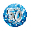 Anagram - 18 inch Holo Everts Foil Balloon - 50th Birthday - Blue Cover