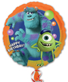 Anagram - 18 inch Circle Foil Balloon - Monsters University Birthday
