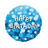 Anagram - 18 inch Holo Everts Foil Balloon - Birthday - Blue Cover
