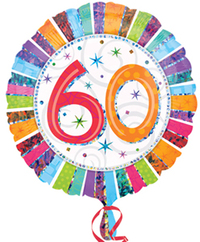 Anagram - 18 inch Circle Foil Balloon - Prismatic Radiant - 60th Birthday - Cover