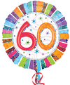 Anagram - 18 inch Circle Foil Balloon - Prismatic Radiant - 60th Birthday Cover