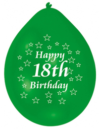 Amscan - Minipax Balloons - Happy 18th Birthday (Pack of 10) - Cover